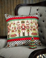 Mackenzie Childs MacKenzie-Childs Santa's Workshop Pillow