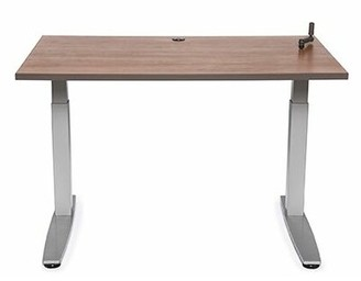 "Populas Furniture Equity Utility Height Adjustable Training Table Populas Furniture Size: 38"" H x 48"" W x 24"" D, Tabletop Finish: Living Teak"