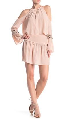 Ramy Brook Libby Cold Shoulder Grommet Sleeve Dress