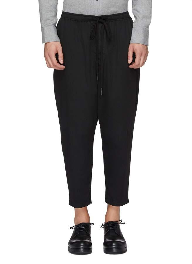 The Viridi-anne The Viridi Anne Drop crotch cotton-silk jogging pants