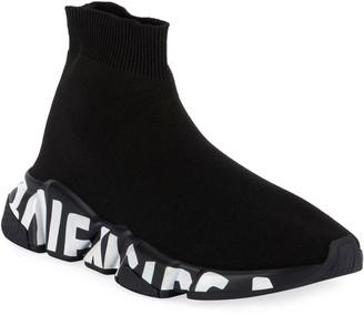 Balenciaga Stretch-Knit High-Top Sock Trainer
