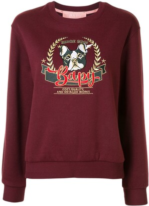 BAPY BY *A BATHING APE® Dog Embroidered Sweatshirt