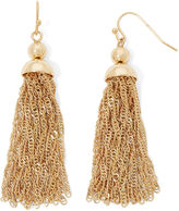 Liz Claiborne Gold-Tone Tassel Drop Earrings