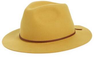 Brixton Wesley Packable Felted Wool Fedora