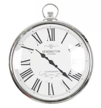 Kensington - Large Silver Wall Clock - silver - Silver/Silver