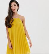 Asos DESIGN Petite mini trapeze pleat dress