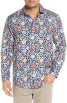 Tommy Bahama Men's 'Seaside Mosaic' Regular Fit Print Cotton & Silk Sport Shirt