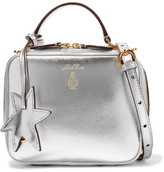 Mark Cross Laura Baby Metallic Textured-leather Shoulder Bag - Silver