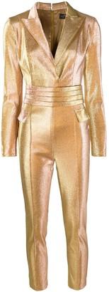 Elisabetta Franchi Tailored Metallic Jumpsuit