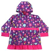 Western Chief Toddler Girl Lovely Floral Rain Coat Purple