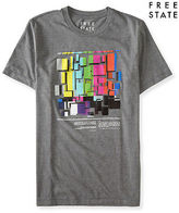 Aeropostale Mens Free State Color Blocks Graphic T Shirt