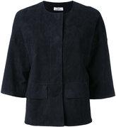 Desa 1972 - suede boxy jacket - women - Cotton/Suede - 2