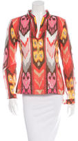 Tory Burch Long Sleeve Sequin Accented Tunic