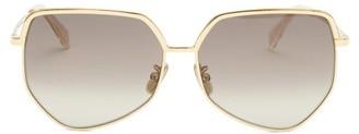 Celine Hexagonal Metal Sunglasses - Gold