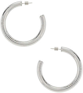 Wanderlust + Co Faye Midi Hoop Earrings