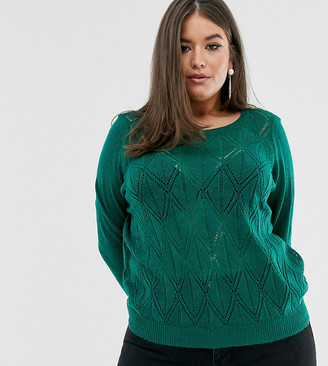 Junarose diamond textured sweater
