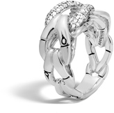 John Hardy Bamboo Ring in Silver with Diamonds