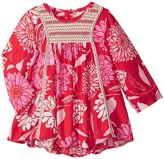 Masala Blossom Smocked Dress (Baby) - Red - 12-18 Months