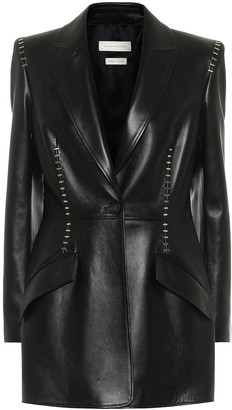 Alexander McQueen Studded leather blazer