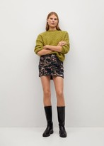 Thumbnail for your product : MANGO Printed pleated miniskirt