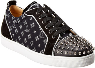 Christian Louboutin Louis Junior Spikes Orlato Leather & Suede Sneaker