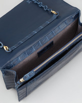 Nancy Gonzalez Crocodile Medium Chain-Strap Flap Clutch Bag, Blue