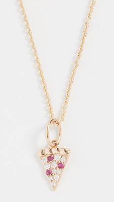 Sydney Evan 14k Gold Pizza Slice Necklace