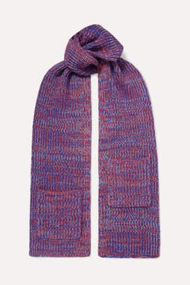 Tibi Merino Wool Scarf - Bright blue