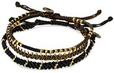 """Wakami Bracelet 3 Strands - Black (7.5"""")"""