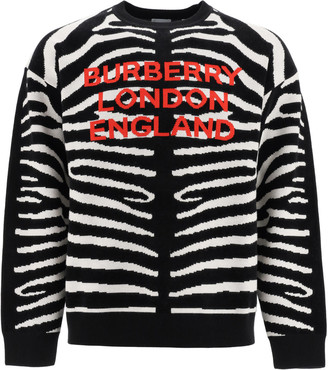 Burberry Jennings Sweater With Zebra Motif