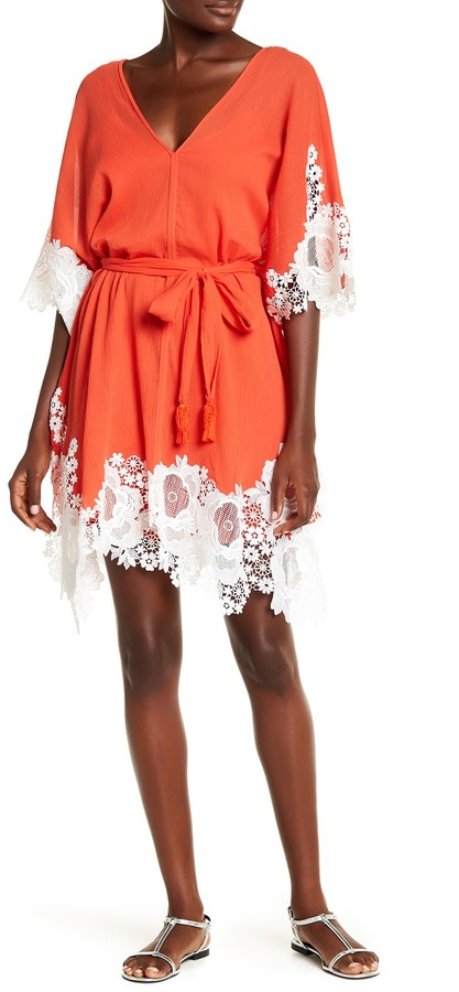 Natori Floral Embroidered Dress