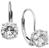 Charles & Colvard 2 CT. T.W. Forever Brilliant Round Moissanite Solitaire Prong Set Earrings in 14K White Gold