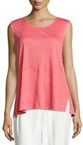 Caroline Rose Linen Knit Tunic, Coral, Petite