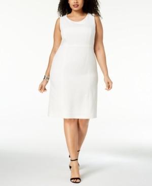 Kasper Plus Size Crepe Sheath Dress