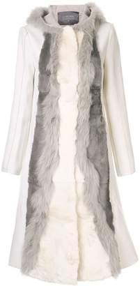Lorena Antoniazzi hooded wool coat