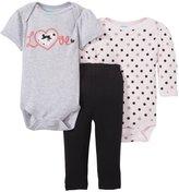 Bon Bebe Love & Polka Dots 3 Piece Set (Baby)-Multicolor-6-9 Months