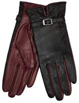 J by Jasper Conran Black Buckle Detailed Leather Gloves