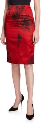 No.21 No. 21 Floral-Print Pencil Skirt