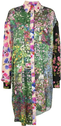 Natasha Zinko Garden Print Shirt Dress