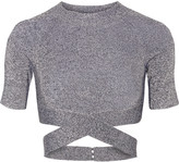 Alexander Wang Cropped stretch-knit top