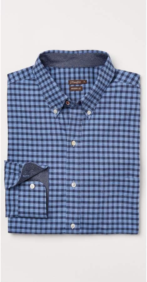 J.Mclaughlin Westend Modern Fit Flannel Shirt in Gingham
