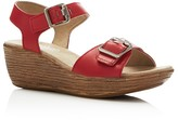 Munro American Marci Buckle Wedge Sandals