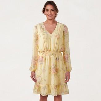 Lauren Conrad Women's V-Neck Flounce Dress