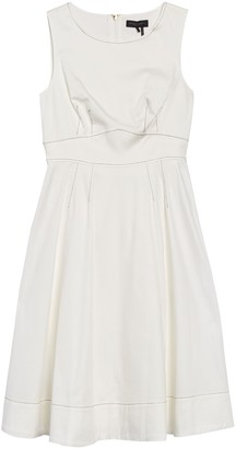 DKNY Contrast Stitched Sleeveless Dress