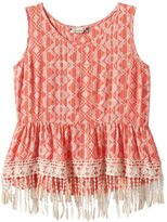 Speechless Girls 7-16 Printed Fringe Tunic