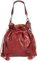 Patricia Nash Shredded Washed Leather Cafarelli Crossbody Hobo