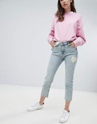 Max & Co. Distressed Straight Leg Jean