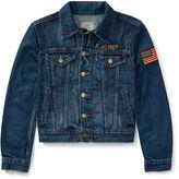 Ralph Lauren 8-20 Embellished Trucker Jacket