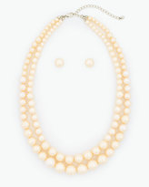 Le Château Pearl-Like Earrings & Necklace Set
