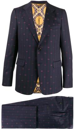 Gucci Interlocking G stripe suit